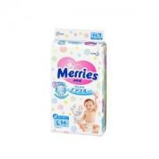 Merries 妙而舒 婴儿纸尿裤 L54片*4包