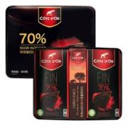 Cote d'Or 克特多金象 真味特醇70%可可浓黑巧克力礼盒装 糖果零食 年货礼盒 100g*4 66.90元