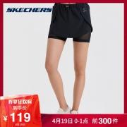 Skechers斯凯奇女子新款梭织短裤 时尚休闲运动短裤 SDAWS19T061 139元