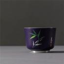 陶瓷茶杯内镶银功夫茶杯大容量主人杯创意扒花个人杯四季杯鎏银品杯 蓝釉夏竹C-AG-9-8  券后99元¥368
