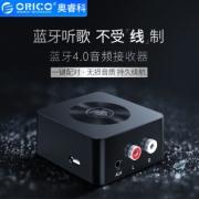 奥睿科(ORICO)AUX蓝牙适配器4.0版3.5转2RCA转手机电脑耳机台式机音箱响音频电视 蓝牙无线音频接收器 黑色 79元¥94
