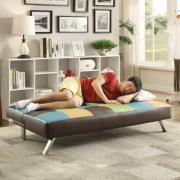 雅客集沙发床两用 折叠沙发床 现代简约可拆洗小户型沙发 FB-15008混色 529元¥469