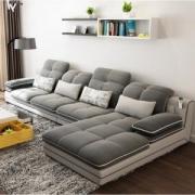 A家家具 DB1544 透气棉麻沙发 三人位+贵妃位2499元包邮