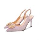 Luiza Barcelos 羊皮一字扣女士高跟鞋 229元包邮(需用劵)229元包邮(需用劵)