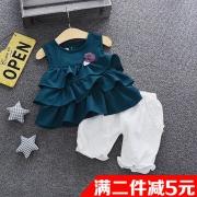 女童套装夏季新款韩版短袖洋气两件套 券后¥29