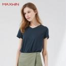 优衣库制造商,Maxwin 马威 女士纯棉修身短袖T恤 多色39元包邮(需领券)
