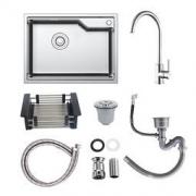 ARROW 箭牌卫浴 AEOB10558S 304不锈钢厨房水槽 带龙头 429元包邮
