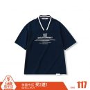 THETHING设计潮牌男士夏季TEE 棒球领字母印花V领日式短袖T恤 114元¥114