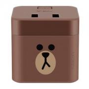 BULL 公牛 GNV-UU212B 布朗熊小魔方USB插座 1.5米