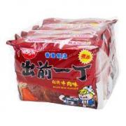 NISSIN 出前一丁 红烧牛肉味方便面 100g*5袋*6件70.55元(双重优惠,合11.76/件)