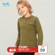 MAXWIN 马威 173343001 男童纯棉长袖T恤¥39