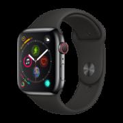 Apple 苹果 Apple Watch Series 4 智能手表 (深空灰铝金属、GPS+蜂窝网络、44mm、黑色运动表带)
