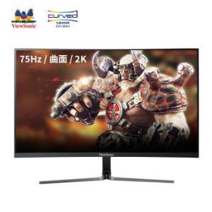 ViewSonic 优派 VX2758-2KC-HD 27英寸 VA显示器 (2560x1440、1800R、75Hz)