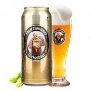 109元整箱包邮!德国进口Franziskaner范佳乐 教士啤酒小麦白啤酒500ML*24听领30