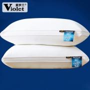 紫罗兰 全棉羽丝绒枕头 2个装  券后49元¥45
