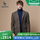 HAZZYS 哈吉斯 ABSZH07DH08b 男士羊毛大衣 2714元包邮¥2948