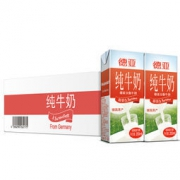 Weidendorf 德亚 3.5gfat 全脂纯牛奶 200ml 30盒 普通装 *2件 125.82元包邮(2件9折,合62.91元/件)
