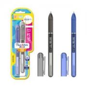 Paper Mate 缤乐美 P3 中性笔 0.5mm 吸塑卡片装 黑+蓝色2支 *5件