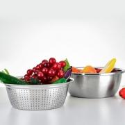 厨房置物架304不锈钢水果蔬菜篮子筐家用用品神器厨具落地收纳架