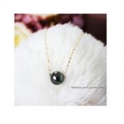 Pearlyuumi 大溪地黑蝶珍珠项链 9-10mm K18黄金 or K14白金可选 859元包税包邮