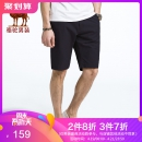 Camel/骆驼 休闲短裤男士五分裤 SV7125040 黑 下单价159¥359