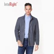 INTERIGHT  男士摇粒绒立领拉链开衫休闲外套