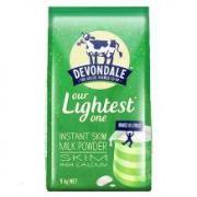 Devondale 德运 脱脂高钙成人奶粉 1kg/袋49.9元包邮包税(2人拼团)