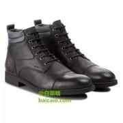 限UK7码,Geox 健乐士 U Jaylon I 男士真皮短靴U84Y7I Prime会员免费直邮含税
