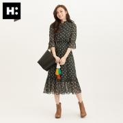 H:CONNECT秋季新款韩版水桶简约单肩斜跨纯色可调背带女包包 58元¥58