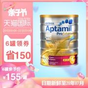 Aptamil 爱他美 白金版 婴儿奶粉 4段 900g *6件 1028.28元含税包邮¥180