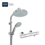 GROHE 高仪 27389001+34598000 恒温浴室淋浴双花洒套装