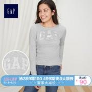 GAP 盖璞 355182 女装 logo徽标纯棉长袖T恤 基本款上衣女  券后80元¥80