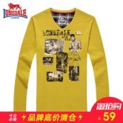 LONSDALE 龙狮戴尔 113309667 男士长袖T恤 59元¥59