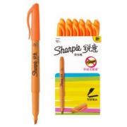 Sharpie 锐意 彩色手账荧光笔 12支/盒 橙色 *5件