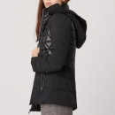 ANDREW MARC TW8AQ908 女士拼接连帽修身棉服 *3件808.8元(合269.6元/件)