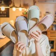 凯柏蒂威 亚麻拖鞋 35-44码 5色可选 5.9元包邮(需用券)