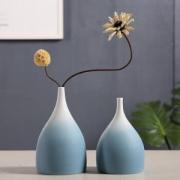 Hoatai Ceramic 华达泰陶瓷 蓝色渐变水滴两件套(G+H)+干花  *3件