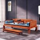 景典红木家具刺猬紫檀素面罗汉床实木中式仿古花梨木沙发卧榻户型340元