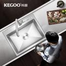 历史低价:KEGOO 科固  K10018 304不锈钢手工水槽龙头套装 544元包邮(需用券)¥594