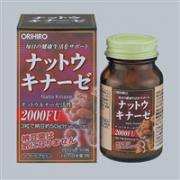 日本立喜乐ORIHIRO纳豆激酶胶囊溶血栓通肠道 60粒