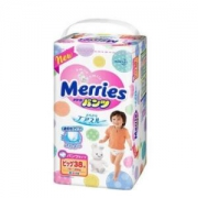 kao 花王 Merries 妙而舒 婴儿拉拉裤 XL38 *4件