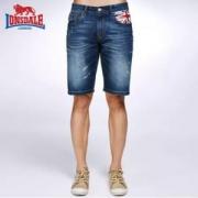 Lonsdale 龙狮戴尔 夏季男士英伦五分裤牛仔短裤