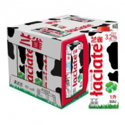 Laciate 兰雀 全脂纯牛奶 1L 12盒 *2件