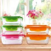 Luminarc 乐美雅 钢化玻璃保鲜盒饭盒 5件套 *3件
