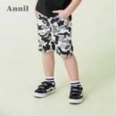 安奈儿 2019夏季新款男童迷彩针织中裤运动裤 2色45元包邮(需领券)