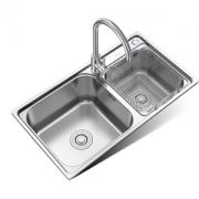 MICOE 四季沐歌 M-B2005(78)-H 304不锈钢厨房水槽双槽套装396元包邮