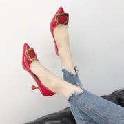 欧美新款尖头细跟女鞋中跟单鞋 券后¥99