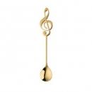 Buyer Star 304不锈钢甜品勺 音符咖啡勺 金色10.9元包邮(需用券)