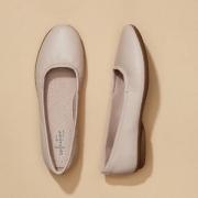 2019夏季新款,限US5/5.5码 Clarks 其乐  Gracelin Vail 女士羊皮芭蕾平底鞋 Prime会员凑单免费直邮