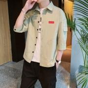 TOULRUN 托伦 男士七分袖工装衬衫 限时赠送纯白T恤 78元包邮(需用券)¥78